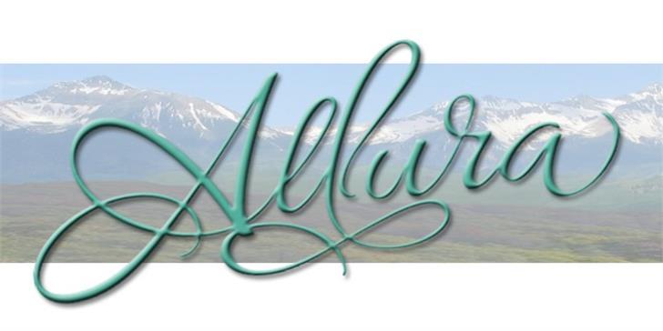 Allura font by TypeSETit