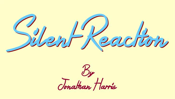 Silent Reaction Font design handwriting