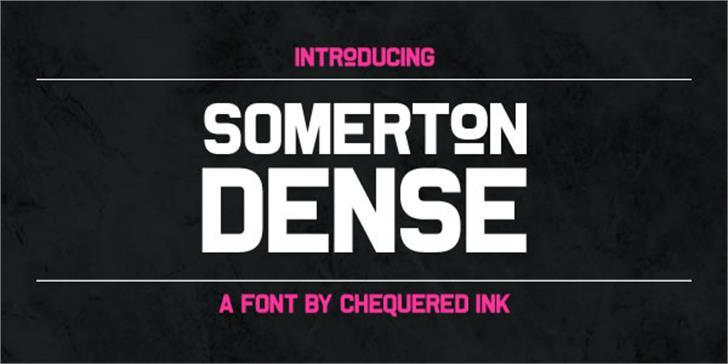 Somerton Dense Font screenshot text