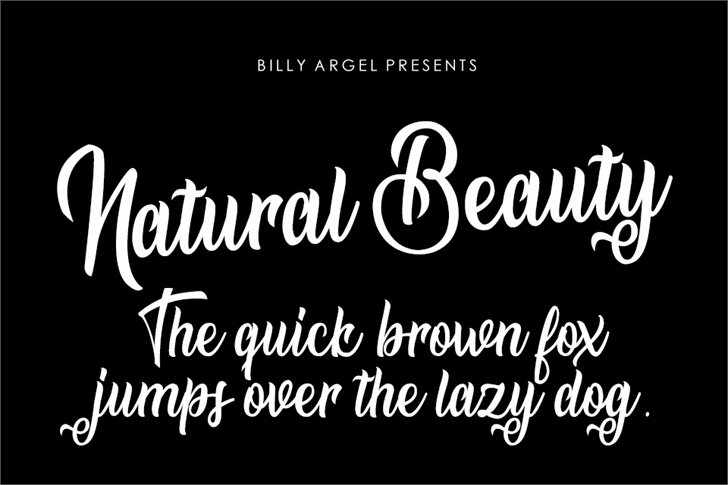 Natural Beauty Personal Use font by Billy Argel