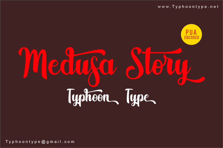 Medusa Story - Personal Use font by Typhoon Type - Suthi Srisopha