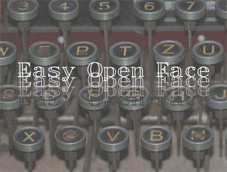 EasyOpenFace Font keyboard bunch
