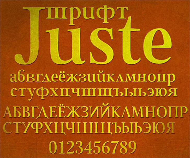 Juste Font poster book