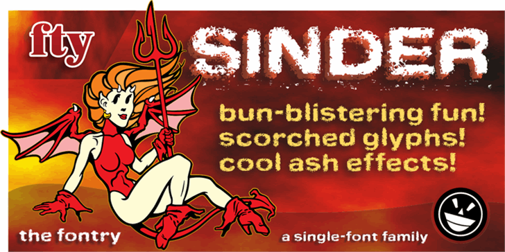 Sinder font by the Fontry