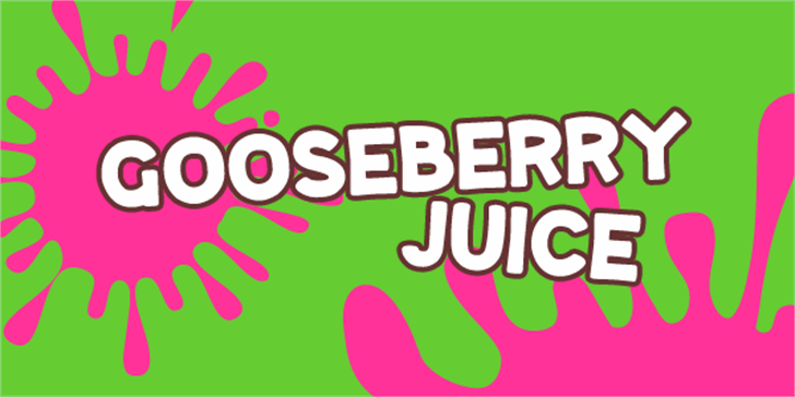 Gooseberry Juice Font cartoon graphic