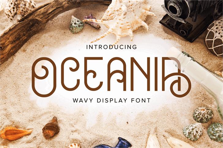 Oceania Demo Font poster