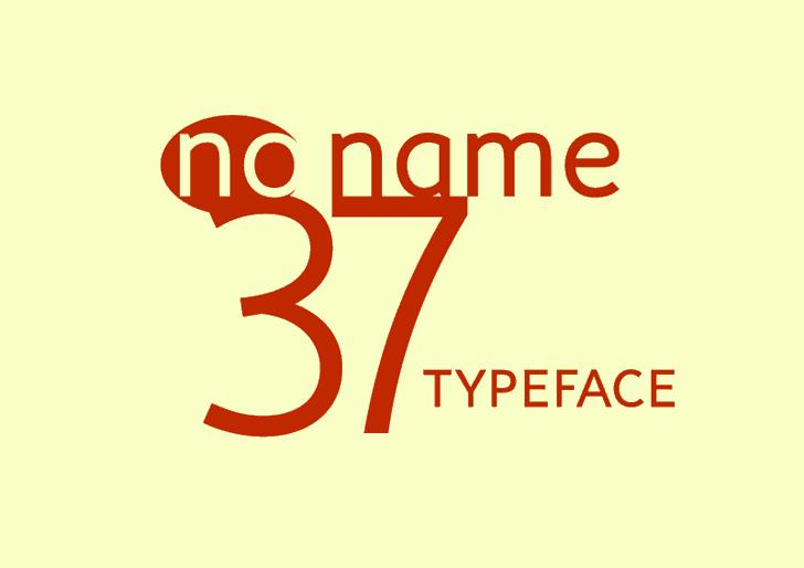 no_name_37 font by Igor Kosinsky