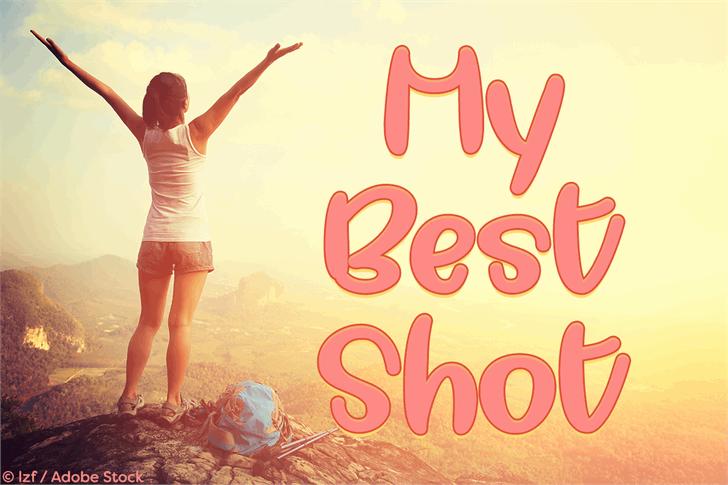 My Best Shot Font woman outdoor