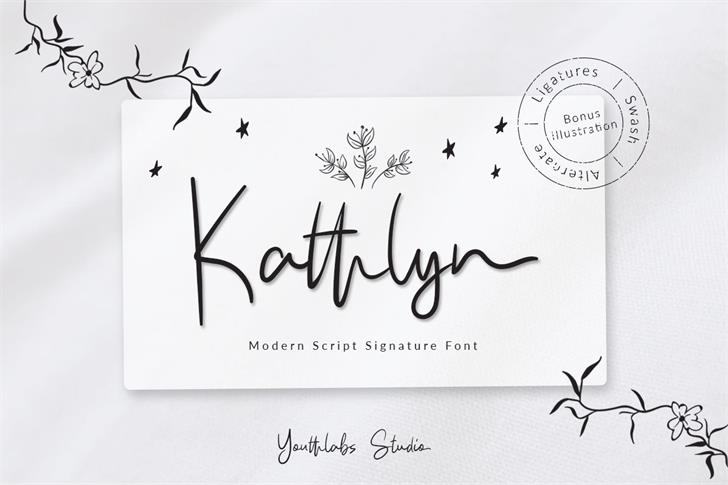 Kathlyn Font handwriting design