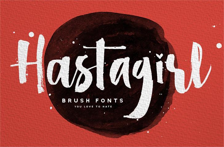 Hastagirl One DEMO Font poster design