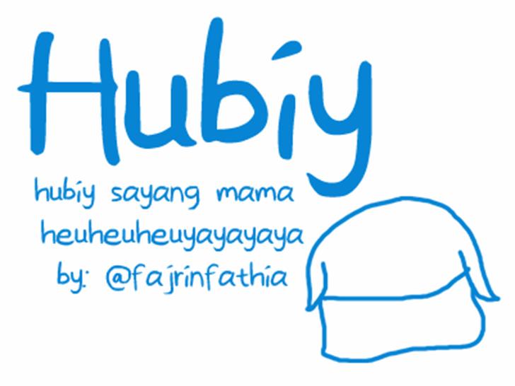 Hubiy Font handwriting design
