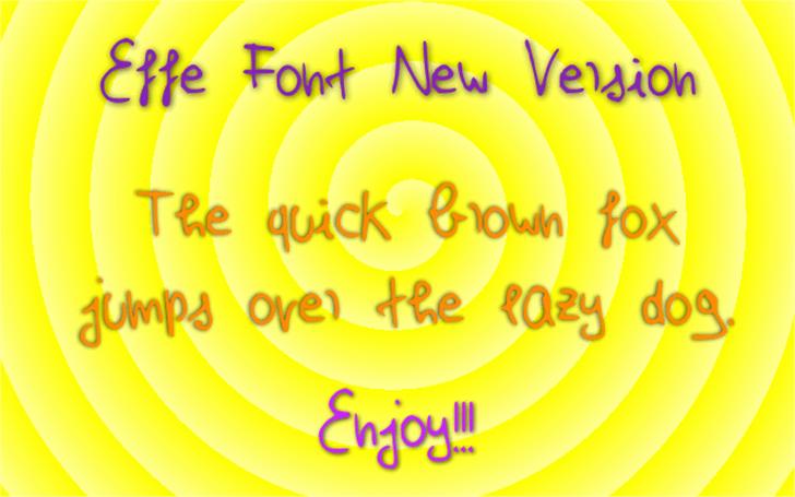 EffeNewVersion Font cartoon design