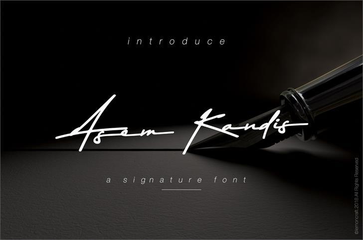 Asem Kandis Font design screenshot