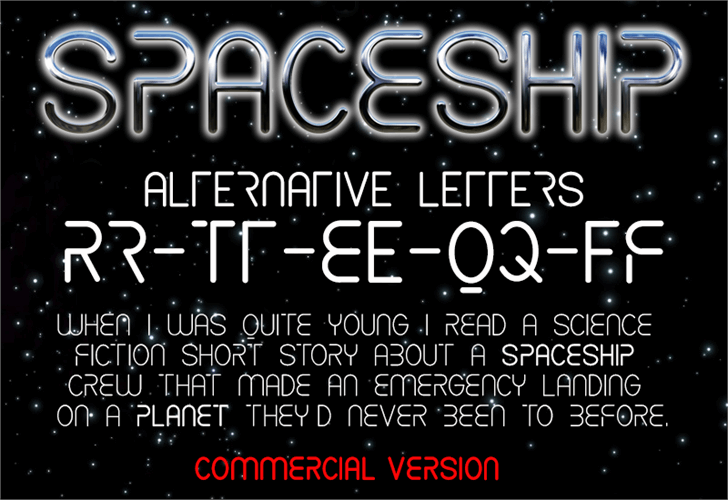 CF Spaceship Font screenshot text
