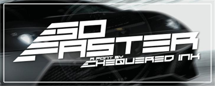 Go Faster Font screenshot auto part