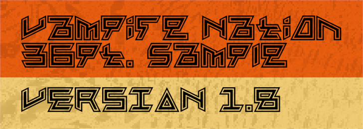 Vampire Nation Font design outdoor