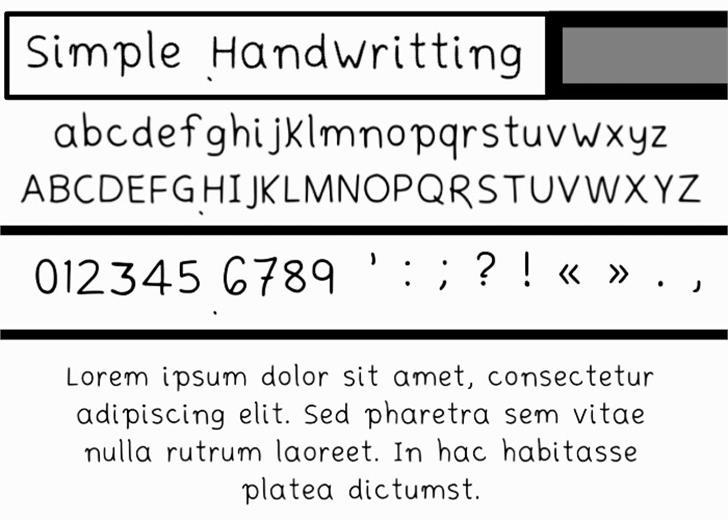 Simplehandwritting Font screenshot abstract