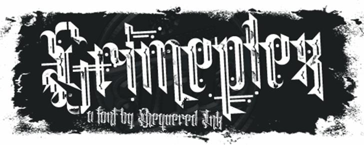 Grimeplex Font poster text