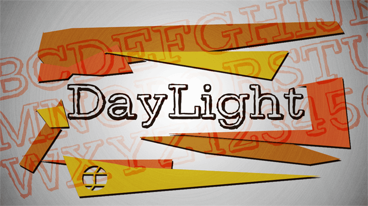 DayLight Font handwriting cartoon