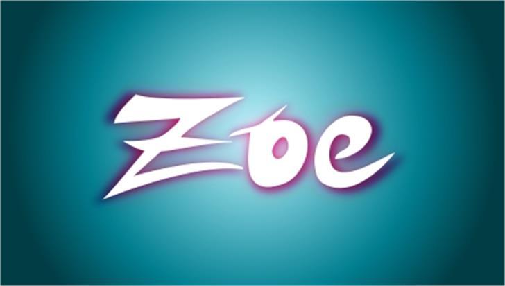 ZOE Graphic Font design screenshot