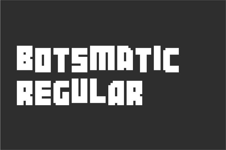 Botsmatic Demo Font design screenshot