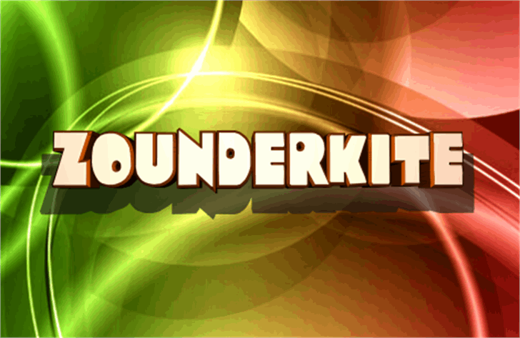 Zounderkite font by Iconian Fonts