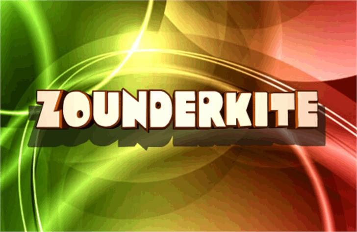 Zounderkite Font screenshot poster