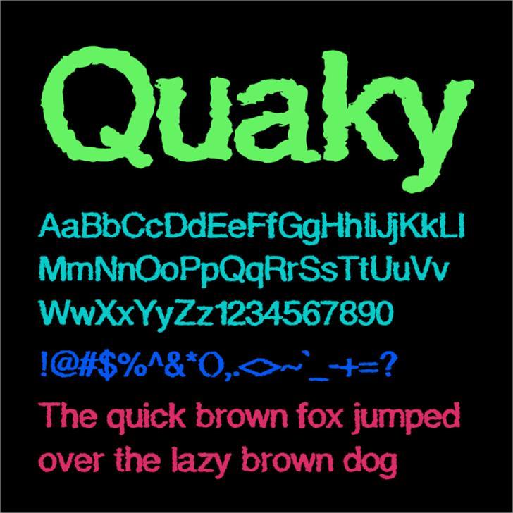 Quaky Font screenshot text