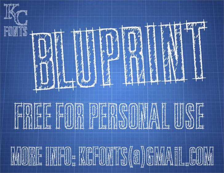 Bluprint font by KC Fonts