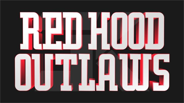 Red Hood Outlaws Font poster design