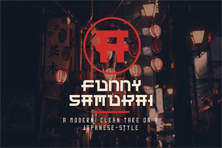 Funny Samurai Font poster