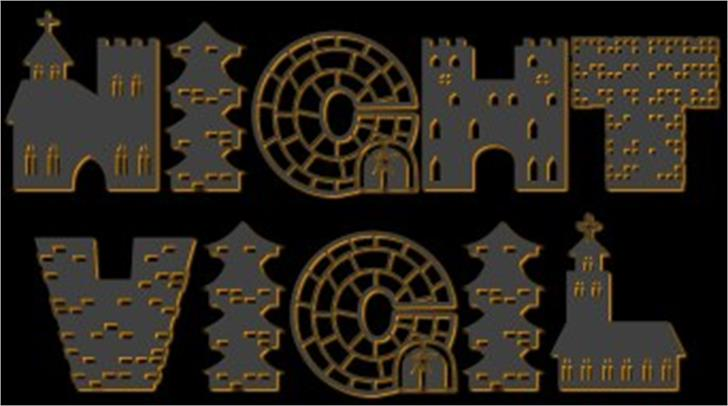 Night Vigil font by Jester Font Studio