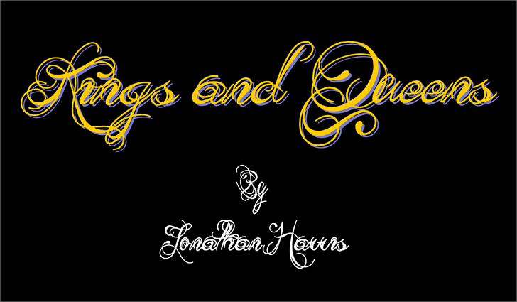 Kings and Queens Font design cartoon