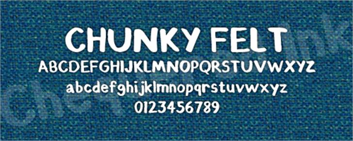 Chunky Felt Font screenshot text