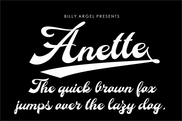 Anette Personal Use Font design text