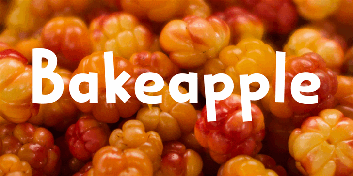 Bakeapple DEMO Font food fruit