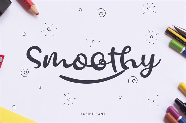Smoothy Font poster