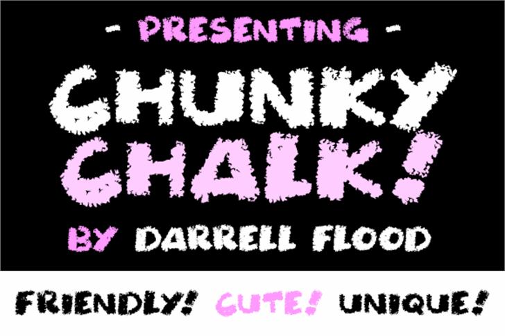 Chunky Chalk font by Darrell Flood