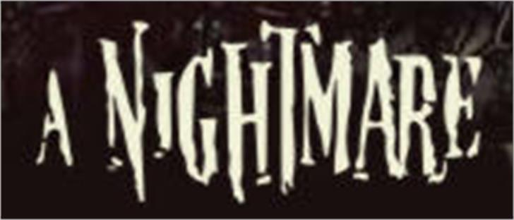 Nightmare 5 font by Filmfonts