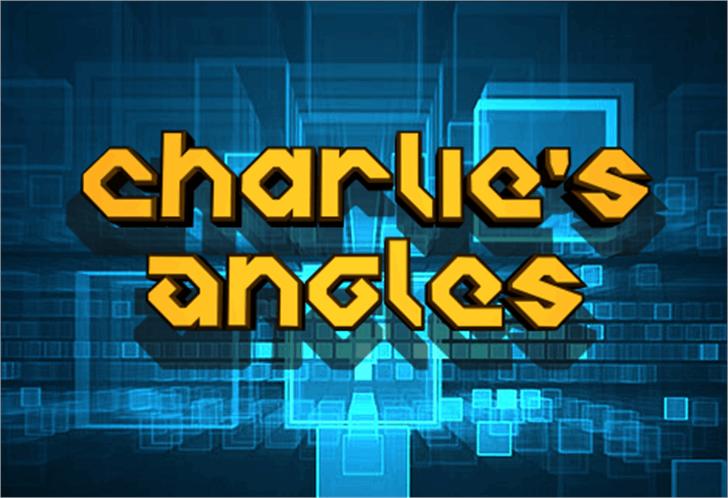 Charlie's Angles Font screenshot graphic design