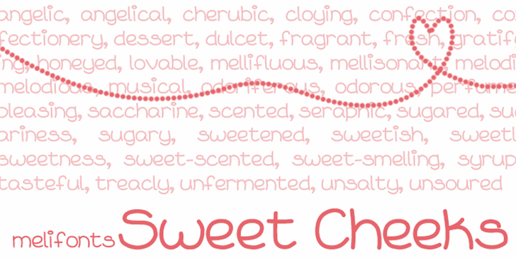 Sweet Cheeks Font screenshot handwriting