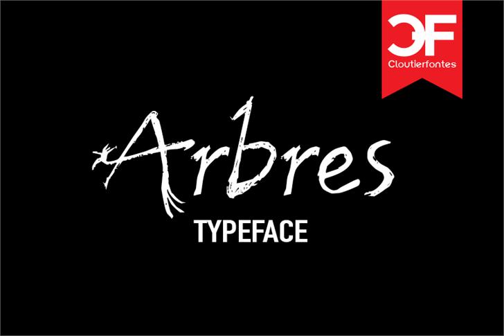 Arbre Font design text