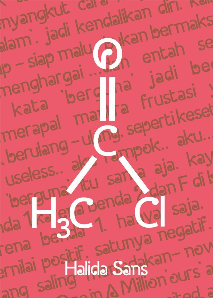 Halida Sans Font handwriting design
