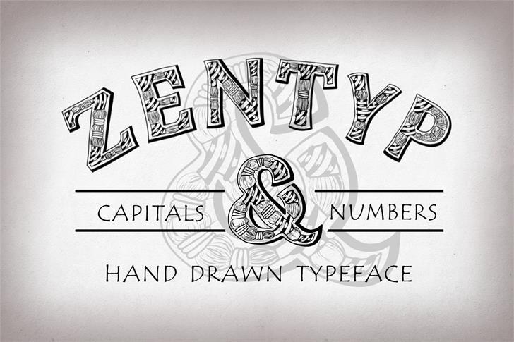 Zentyp Demo font by Eva Barabasne Olasz