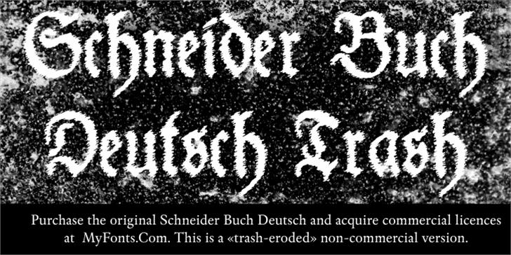 Schneider Buch Deutsch Trash Fr Font poster