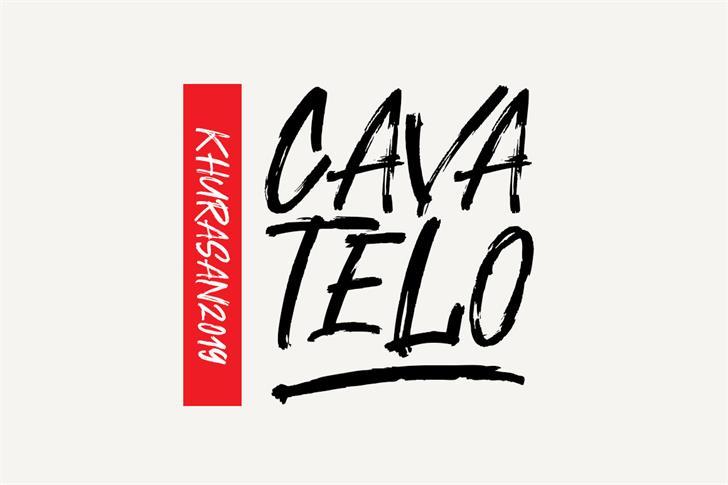 Cavatelo Font design handwriting
