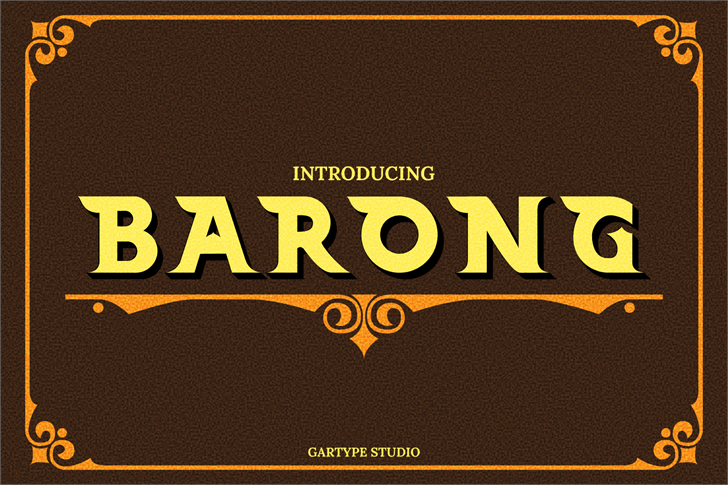 Barong (Demo) Font design book