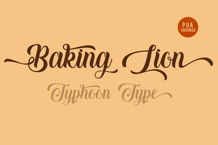 Baking Lion - Personal Use font by Typhoon Type - Suthi Srisopha