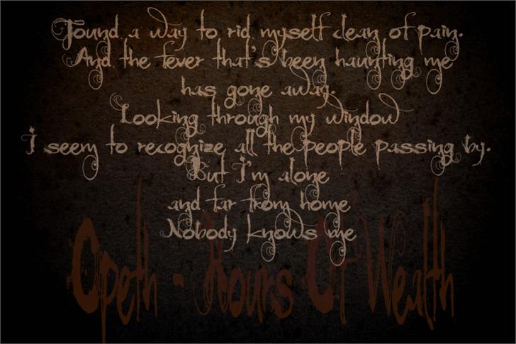 Moonlight Shadow Font text handwriting
