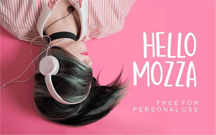 Hello Mozza Font cartoon woman